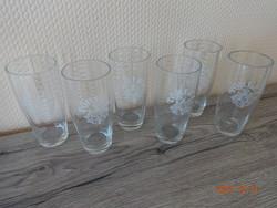 6 db régi, Törley feliratos és címeres pezsgős pohár (1930-as évek vége)