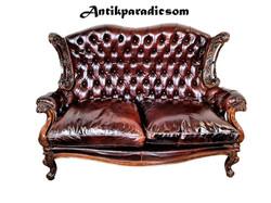A203 Antik barokk bőr kanapé