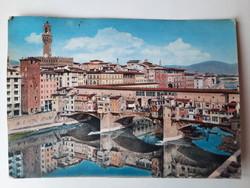 Retro levelezőlap, képeslap, Firenze, 1964