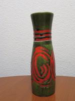 Iparművészeti zsűrizett kerámia váza, 28 cm