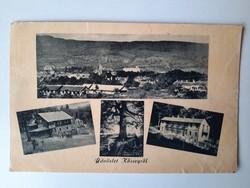 Retro levelezőlap, fotó képeslap - Üdvözlet Kőszegről, 1956