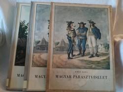 Kresz Mária:Magyar parasztviselet I-II.kiadói kartontokban (hiánytalan)