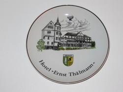 Wallendorf - Oberhof címerrel, emlék porcelán falitányér