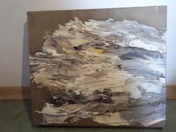 Korodi János Ezüst róka nyuszi 33x38 cm