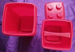 Régi LEGO üres dobozok fedővel - nagy doboz 24 x 21 cm.