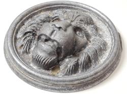 Oroszlánfej, nagyméretű régi öntőforma  /negatív darab