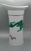 B169 NPM Meissen zöld sárkányos óriás váza - csodaszép gyűjtői ritkaság!