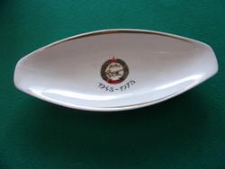 MHSZ 1948-1978 feliratú Hollóházi porcelán emléktálka