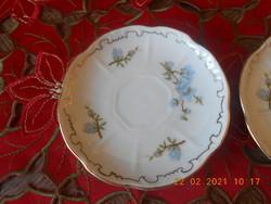 Zsolnay kék Barackvirág mintás kávés kistányér