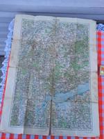 Pápa térkép - Magyar Királyi Állami Térképészeti Intézet - Antik 1918 -as