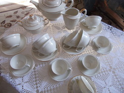 Szépséges elefántcsont szinű Bavária német kávés csészék 4 darab 2 ajándék