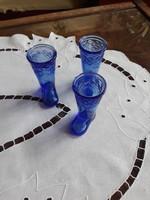 Rövid italos üvegcsizma kék színű