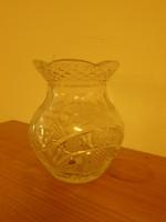 Kristály váza 17 cm