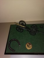 Régi retró Napóleon dioráma szerűség