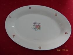 Gránit porcelán, ovális húsos tál. Mérete 37,5 x 26 x 4 cm.