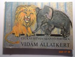 Csukás István: Vidám állatkert - régi leporelló mesekönyv Szántó Piroska illusztrációival (1971)
