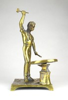 1D288 Kovácsmester bognár kerékgyártó réz szobor 22.5 cm