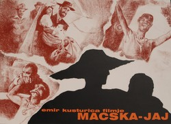 Kusturica: Macska-jaj - plakátterv, egyedi grafika