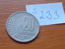 BULGÁRIA 20 CTOTINKI 1954 S233