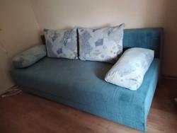 Különleges színű stabil kanapé + 2 karfás fotel