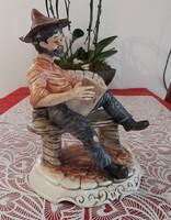 Antik capodimonte hibátlan porcelàn figura eladó!