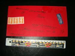 Franciaországból légiposta boriték levél Budapestre szép bélyeggel KIÁRUSÍTÁS  p9 nagy levél