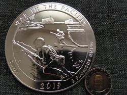 USA Háború a csendes óceánon Guam 5 uncia 155.5 g .999 ezüst 1/4 Dollár 2019 (id23428)