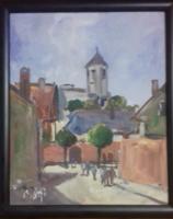 Eredeti Bánfi festmény Szentendre utcakép
