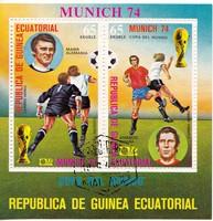 Egyenlítői-Guinea légiposta bélyeg blokk 1974