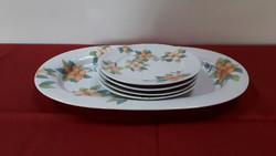 Alföldi süteményes tányér készlet: 1 db kínáló tál, 4 db kistányér