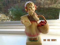 """HUMMEL """"Meditáció""""/ Kislány levéllel almakosárral"""