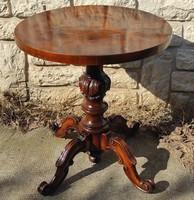 Asztal,dohànyzó , telefon asztalka,szalon asztal, faragott  dekoratív furnér! posztamens szobortartó