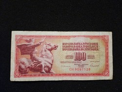 Jugoszláv 100 Dinár 1986