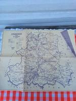 Csongrád megye és Szeged térkép - régi