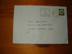 Német bélyeg levél  Magyarországra Szegedre  KIÁRUSÍTÁS 1z7p