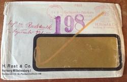 Német birodalmi 1931 boriték Baja érkezési bélyegző hátul Harburg fabrikate reklám levél KIÁRUSÍTÁS