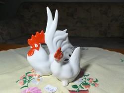 Porcelán tyúk+kakas