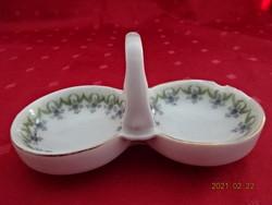 Német porcelán, antik sótartó, hossza 14 cm.