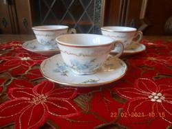 Zsolnay kék Barackvirág mintás kávés csésze