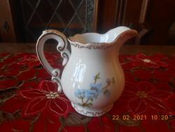 Zsolnay kék barackvirág mintás tej / tejszín kiöntő