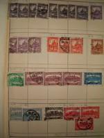 Kb 25 darab korai Magyar régi bélyeg lapon válogatások stb tétel 1 forintról KIÁRUSÍTÁS