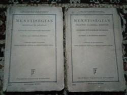 Mennyiségtan 2 darab régi munkafüzet !! 1931  !!