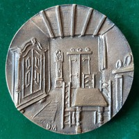 Borsos Miklós: Parasztbarokk, bronz érem 1978