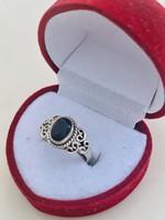 Gyönyörű ezüst gyűrű 925 zafir kővel !