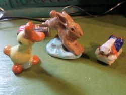 3 db kisméretű , art deco , illetve retro kerámia és porcelán egyben , Húsvétra .