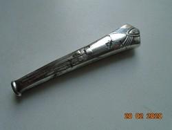 Antik szecessziós ezüstözött kés nyél