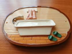 Vintage 3D-s fürdőszobai ajtójelzés