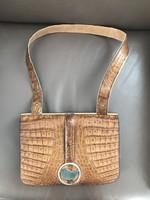 Krokodilbőr táska antik