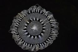 Rece csipke kézimunka lakástextil dekoráció kis méretű terítő 16 cm