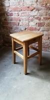 Sámli, kisszék, natúr fa  textilgyári szék, ülőke, loft